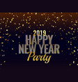 2019 new year party luxury background vector image