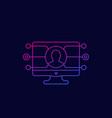 affiliate marketing icon linear