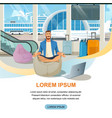 airline company online services website vector image