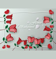 background greeting card red rose flower vector image vector image