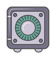 bank safe isolated pictogram vector image vector image