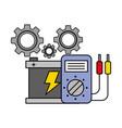 battery diagnostic gears automotive service vector image vector image