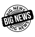 Big News rubber stamp vector image vector image