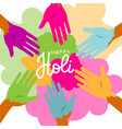 bunch colorful hands friends group having vector image vector image