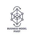 business model pivot line icon concept business vector image vector image