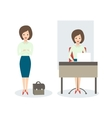Business Woman isolated Business lady vector image vector image