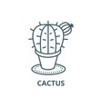 cactus line icon cactus outline sign vector image