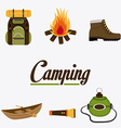 Camping design vector image vector image