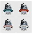 carpenter logo design artwork carpentry vector image