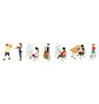 children and hobbies isometric kids set vector image