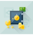 concept of savings in flat design style vector image vector image
