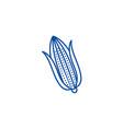 corn line icon concept corn flat symbol vector image vector image