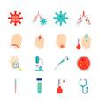 coronavirus cov objects vector image