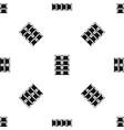 dark chocolate pattern seamless black vector image vector image