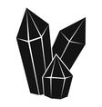 Diamonds icon simple style vector image