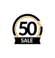 discount card with 50 percent sale advertising vector image