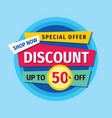 discount up to 50 off concept banner sale vector image