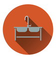 Double sink icon vector image
