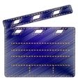 Film clap board cinema sign vector image vector image