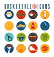 flat design icons basketball vector image