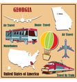 Flat map of Georgia