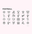 football icons football players and equipment vector image vector image