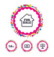 for sale icons real estate selling vector image