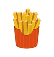 french fries icon vector image vector image