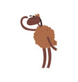 funny sheep character standing on two legs and vector image vector image