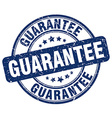 guarantee blue grunge round vintage rubber stamp vector image vector image