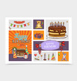 hand drawn birthday party elements set vector image
