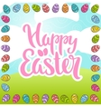 Happy Easter phrase lettering vector image