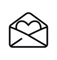 happy valentines day open envelope heart love vector image