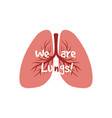 human internal organs - lungs isolated on vector image vector image