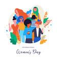 international women s day vector image