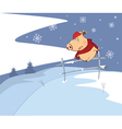 Little pig and Christmas vector image vector image
