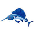 marlin fish cartoon vector image