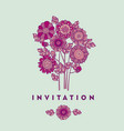 merygold flower card template design vector image vector image