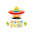 mexican cuisine logo template isolated vector image vector image