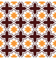 moroccan tiles design seamless brown and orange vector image vector image