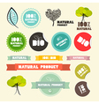 Natural Product Flat Design Retro Labels - Tags - vector image vector image