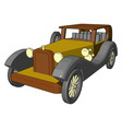 old retro car toy on white background vector image vector image