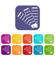 paint color selection booklet icons set vector image