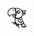 parrot icon in simple monochrome style vector image vector image