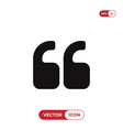 quote left icon vector image