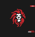 red lion vector image vector image