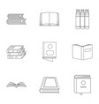 reference book icons set outline style vector image