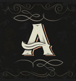 retro style western letter design letter a vector image