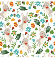 seamless pattern for easter theme with cute vector image vector image