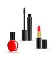 Set of woman cosmetics objects isolated on white b vector | Price: 1 Credit (USD $1)